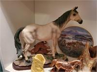Horse Statue, Cowboy Boot Bookends, etc.