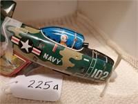 Vintage Tin Airplane Gun