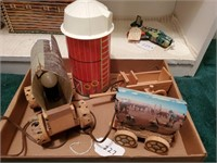 Fisher Price Silo, Covered Wagon Lamps, etc.