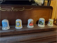 Collector Thimbles, Sewing Supplies, & Shelves