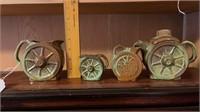 4 - Frankoma Wagon Wheel Pitchers