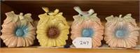 4 - Decorative Wall Pockets