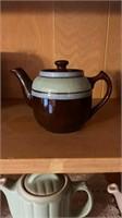 7 - Brown Vintage Teapots