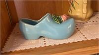McCoy Vases and Dutch Shoe