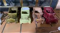 4 - Vintage Car Planters
