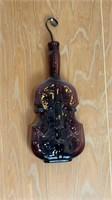 5 - Colored Glass Violin & Banjo Bottles