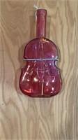 6 - Colored Glass Violin Bottles