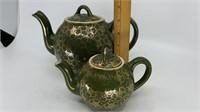 2 - Hall Teapots, Dark Green