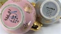 4 - Hall Daisy Teapots, Pastel