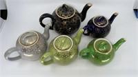 5 - Hall Teapots, Blues & Green