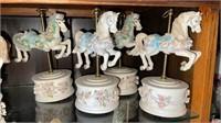7 - Musical Carousel Horses