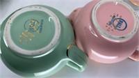 3 - Hall Teapots, Pastel