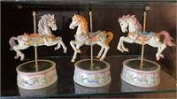 3 - Musical Carousel Horses