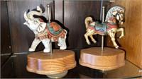 Musical Carousel Elephant & Horse