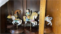 4 - Musical Carousel Horses