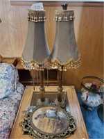 2 - Victorian Lamps & Framed Prints