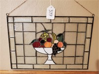 Stained Glass Fruit Panel
