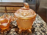 Orange Carnival Glassware