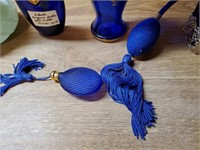 Fancy Cobalt Blue Perfume Bottles