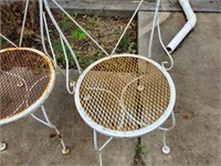 2 - Metal Chairs
