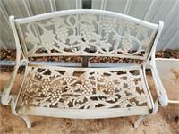 Metal Bench  & Metal End Table