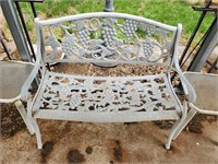Metal Bench & 2 End Tables