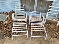 2 - Lawn Chairs, 2- Lounge Chairs, & Table