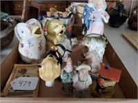 Vintage Creamers, Donkey, Figurines, etc.