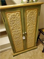 Yellow and Green Curio Cabinet