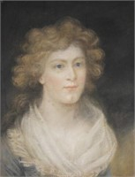 Two (pastel) portraits of Mr. & Mrs. Pritchard, 19th century