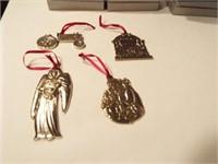 Danforth Pewter Ornaments (4)