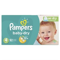 Pampers Baby-Dry Diapers Size 4 92 Count, 92 Count