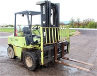 Lot 4001- Clark Forklift  Absentee bidding available on this item. Click catalog tab for more information & pictures.