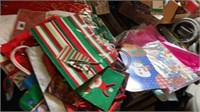 SPOOLS OF RIBBPN CHRISTMAS BAGS AND