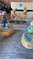 VINTAGE WOODEN MUSIC BOXES