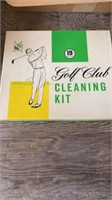 VINTAGE SIGN AND WALL HANGING, GOLF CLUB CLEANING