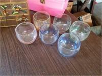 JUICE GLASSES, DECORATIVE ITEMS