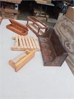 WOOD DECOR AND SMALL BOX