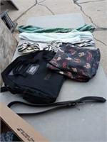 2 BAGS, 3 SCARVES AND A BELT