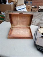 CLOCK AND WOODEN BOX