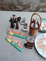 5 COLLECTIBLE PLATES AND MISC