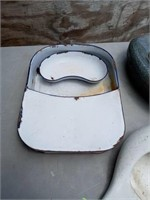 3 VINTAGE BED PANS