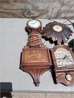 VINTAGE CLOCKS AND SHELVES