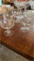 TALL AND SHORT GLASS WINE CUPS