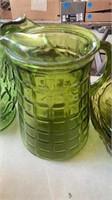 GREEN GLASS SET