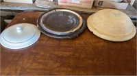 MISC CROCK LIDS AND OTHER LIDS