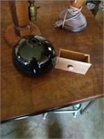 VINTAGE WOOD LAMPS,  MISCELLANOUS ITEMS