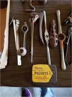 MINI CAST IRON FRY PANS, DAISY PELLETS,