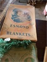 VINTAGE ESMOND BABY BLANKET, DECORATIVE ITEMS