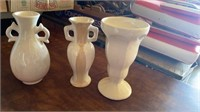 GLASS AND PORCELAIN VASES, CUPS, AND BOWLS